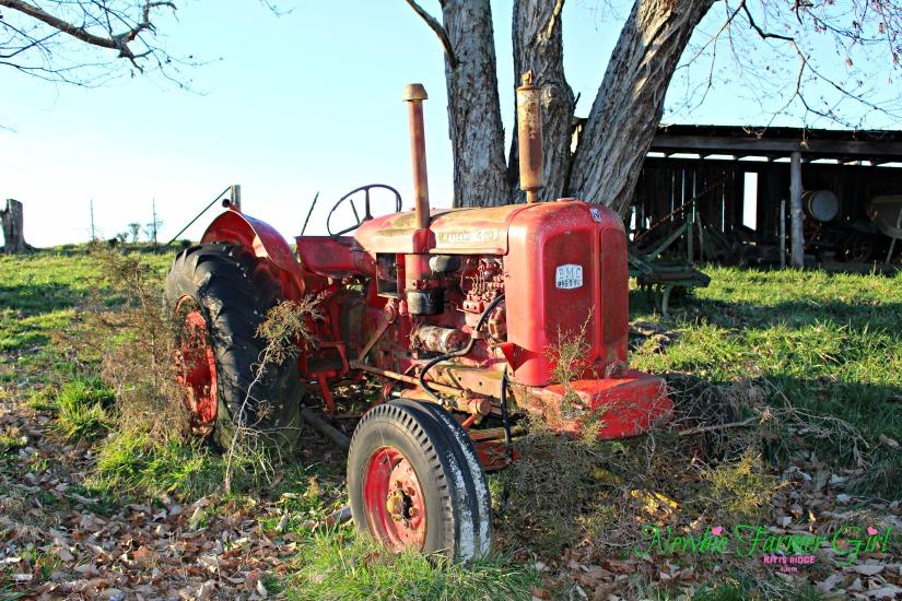 run down tractor